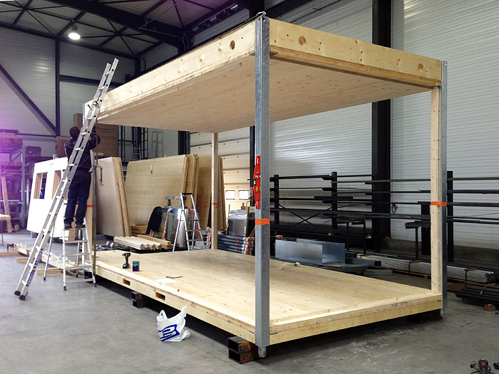 construction modulaire bois timber concept. Black Bedroom Furniture Sets. Home Design Ideas